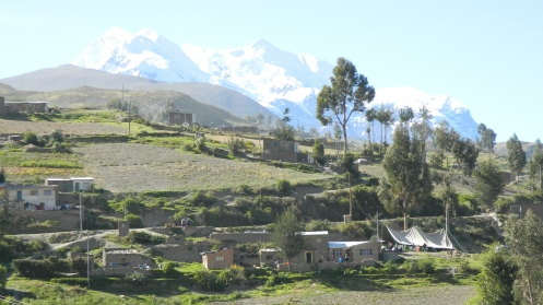 View of Illimani, La Paz, Bolivia