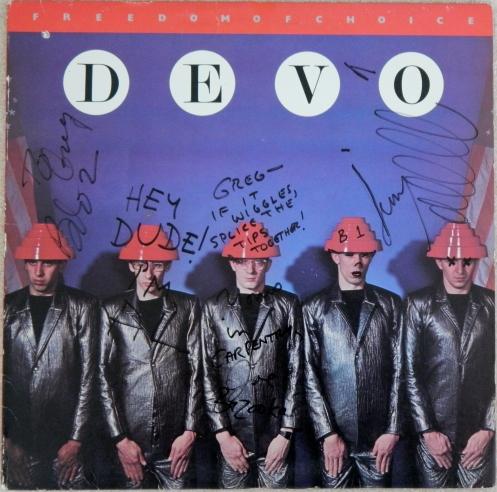 Autographed Devo