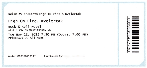 High on Fire - Kvelertak