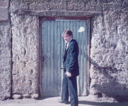 Yours Truly, wayward and defending in Huancayo, Peru - 1984