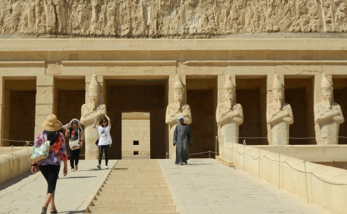 My beloved walking up the ramp to the Mortuary Temple of Queen Hatshepsut - Luxor, Egypt, November 2015